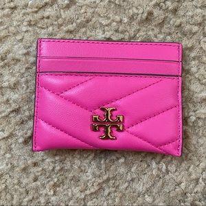 New Tory Burch Kira Card Holder/Case crazy pink